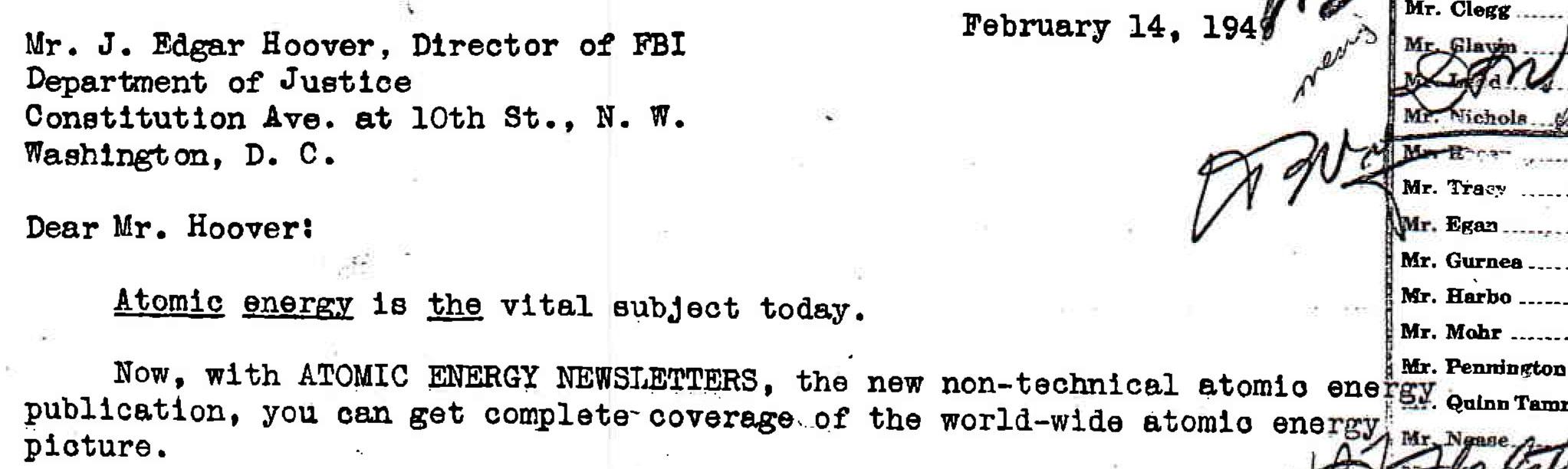 Press Release & FBI Memos